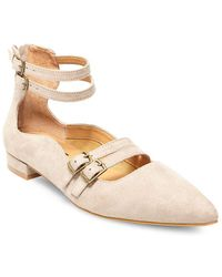 Lord & Taylor - Mabel Buckle-trimmed Point-toe Flats - Lyst