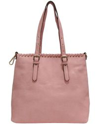 Chinese Laundry Harper Faux Leather Whipstitch Tote - Pink