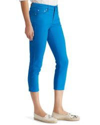 Lauren by Ralph Lauren - Premier Skinny Crop Curvy Jeans - Lyst