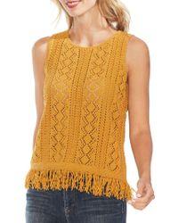 Vince Camuto - Oasis Cotton Blend Crochet Jumper - Lyst