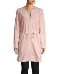 Calvin Klein Full-zip Coat - Pink