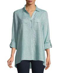 Jones New York - Flounce-hem Shirt - Lyst