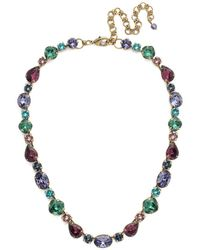 Sorrelli - Jewel Tone Narcissus Crystal Necklace - Lyst
