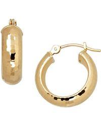 Lord + Taylor - 14k Yellow Gold Hoop Earrings - Lyst