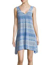 J Valdi - Optical-print Sharkbite Coverup Dress - Lyst