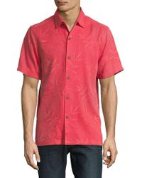 Tommy Bahama - Luau Floral Woven Silk Button Down Shirt - Lyst