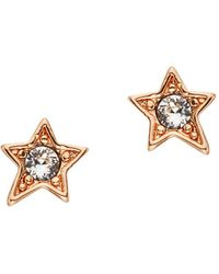 Karl Lagerfeld - Mini Rocky Star Stud Earrings - Lyst