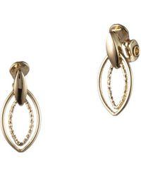 Anne Klein - Goldtone Doorknocker Clip-on Earrings - Lyst