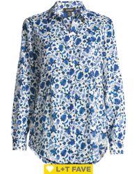 Lord + Taylor Petite Nancy Floral Shirt - Blue