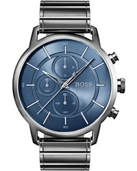 BOSS Round Chronograph Bracelet Watch - Metallic