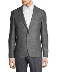 Michael Kors Textured Wool & Silk Sportcoat - Black