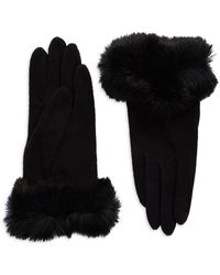 Carolina Amato - Rabbit Fur-trimmed Gloves - Lyst