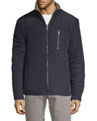 Marc New York - Nixon Faux Fur Quilted Jacket - Lyst