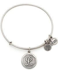 ALEX AND ANI - Initial Charm Bangle - Lyst