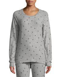 Pj Salvage - Star-print Long-sleeve Cotton Top - Lyst