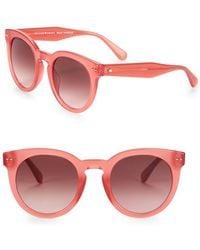 Kate Spade - Alexus 50mm Round Sunglasses - Lyst