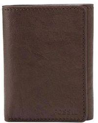 Fossil - Ingram Leather Tri-fold Wallet - Lyst