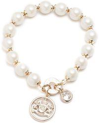 Ralph Lauren - Faux Pearl Crest Bracelet - Lyst