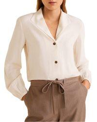 Mango Camp-collar Button-down Shirt - Multicolour