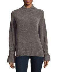 Lord & Taylor - Mockneck Chenille Top - Lyst