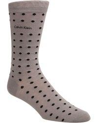 Calvin Klein - All Over Dots Crew Socks - Lyst