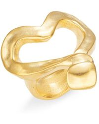 Uno De 50 Corazon Clavado Cocktail Ring - Metallic