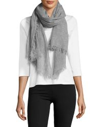 Lord & Taylor - Cashmere Fringe Scarf - Lyst