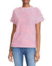 Lauren by Ralph Lauren - Stripe Dolman-sleeve Top - Lyst