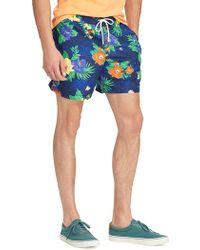 046605151b Polo Ralph Lauren Traveler Floral Swim Shorts in Blue for Men - Lyst