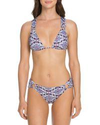 SOLUNA - Printed Double-loop Triangle Bikini Top - Lyst