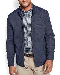 Johnston & Murphy Melange Knit Full-zip Sweater - Blue