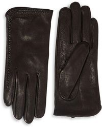 MICHAEL Michael Kors - Whipstitch Leather Gloves - Lyst