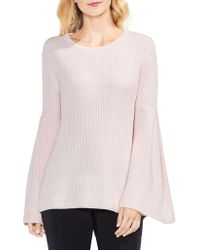 Vince Camuto - Ribbed Bell-sleeve Jumper - Lyst