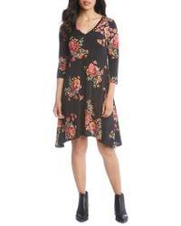 Karen Kane - Hailey Floral A-line Dress - Lyst