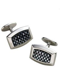 David Donahue - Onyx And Mother Of Pearl Cufflinks - Lyst