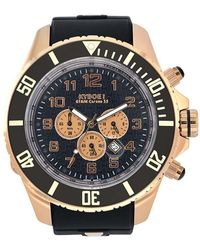 Kyboe - Empire Collection Chrono Rose Goldtone Silicone Strap Watch - Lyst