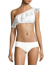 Lisa Maree - White Out Dustry Dreams One-shoulder Bikini Top - Lyst