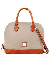 Dooney & Bourke - Zip Zip Pebbled Leather Satchel - Lyst