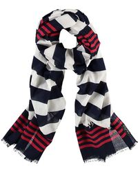 Fraas - Nautical Striped Oblong Cotton Scarf - Lyst