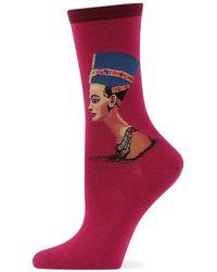 Hot Sox Nefertiti Trouser Socks - Purple