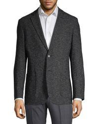 Karl Lagerfeld Marled Notch Lapel Sportcoat - Gray