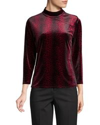 Vince Camuto - Printed Mock-neck Top - Lyst