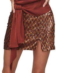 Astr Tai Embellished Mini Skirt - Multicolour