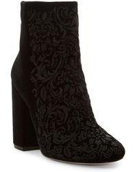 Jessica Simpson - Wovella Velvet Boots - Lyst