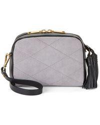 Isaac Mizrahi New York | Bord Suede And Leather Crossbody Bag | Lyst