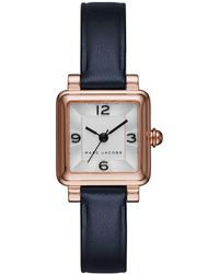 Marc Jacobs - Vic Rose Goldtone Stainless Steel And Leather Three-hand Strap Watch - Lyst