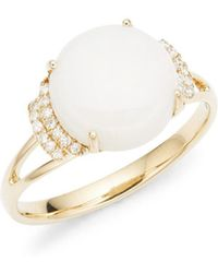 Lord + Taylor - 14k Yellow Gold Diamond And Opal Ring - Lyst