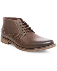 Steve Madden - Pieter Casual Leather Chukka Boots - Lyst