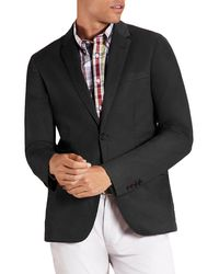 Brooks Brothers Notch Cotton Blend Sportcoat - Black