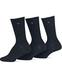 Ralph Lauren - 3-pack Tipped Rib Trouser Socks - Lyst